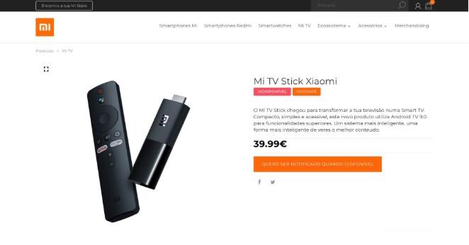 Стала відома ціна молодшої версії Xiaomi Mi TV Stick для ринку Європи