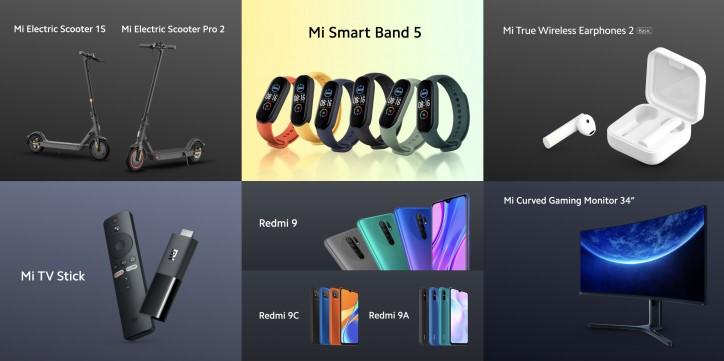 Ціна Xiaomi Redmi 9, 9A, 9C і Mi Band 5 в Європі