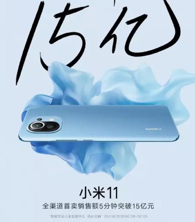 Xiaomi розпродала рекордну кількість смартфонів Mi 11 за п'ять хвилин