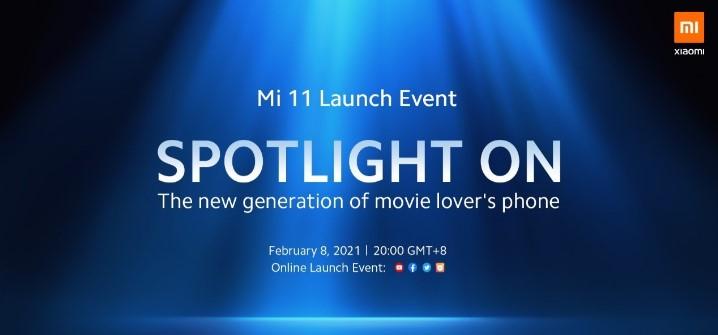 Онлайн трансляція міжнародного анонса Xiaomi Mi 11