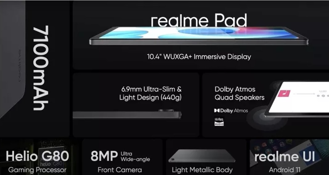 Представлений офіційно планшет Realme Pad за 5000 гривень
